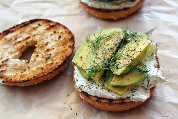 Dill-Cream-Cheese-Avocado-Bagel-Sandwich