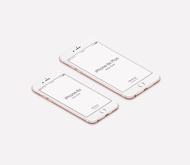 003-iPhone-6S-Rose-Gold-Isometric-view-Mockup