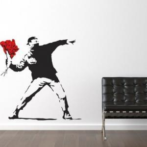 banksy_throwing_flowers_wall-sticker