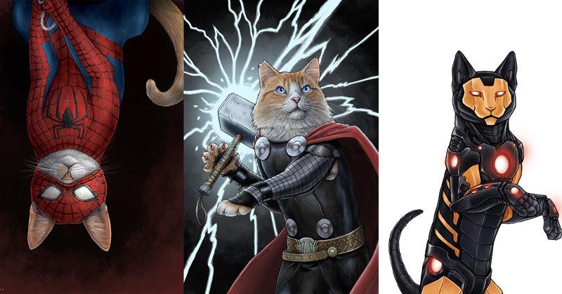 あの映画キャラクターを猫でイラスト化!