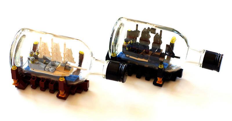 LEGOでボトルシップをやっちゃう人