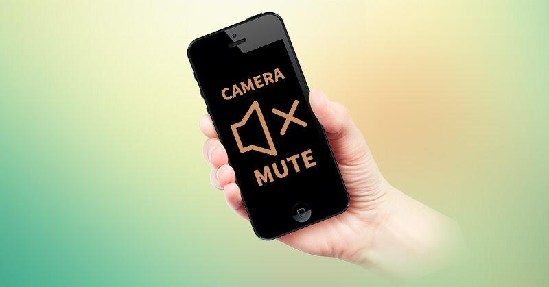 iPhoneのシャッター音を無音にする1つの方法