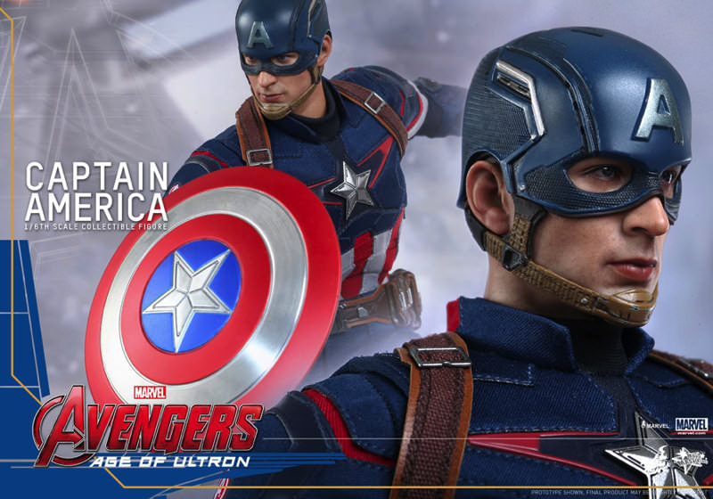目力のあるキャプテンアメリカ!