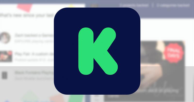 Kickstarterのアプリでサクサクチェック!