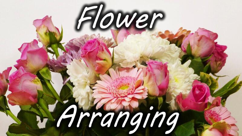 花瓶に花を生ける時、セロテープを使うとキレイになる!