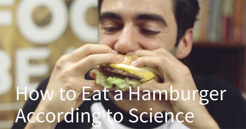 ちょっとしたアイディア!ハンバーガーを落とさずキレイに食べる方法!