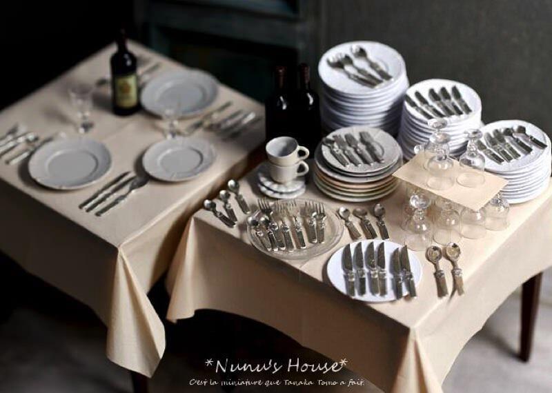田中智さんのミニチュアアート作品 食器1つ1つ