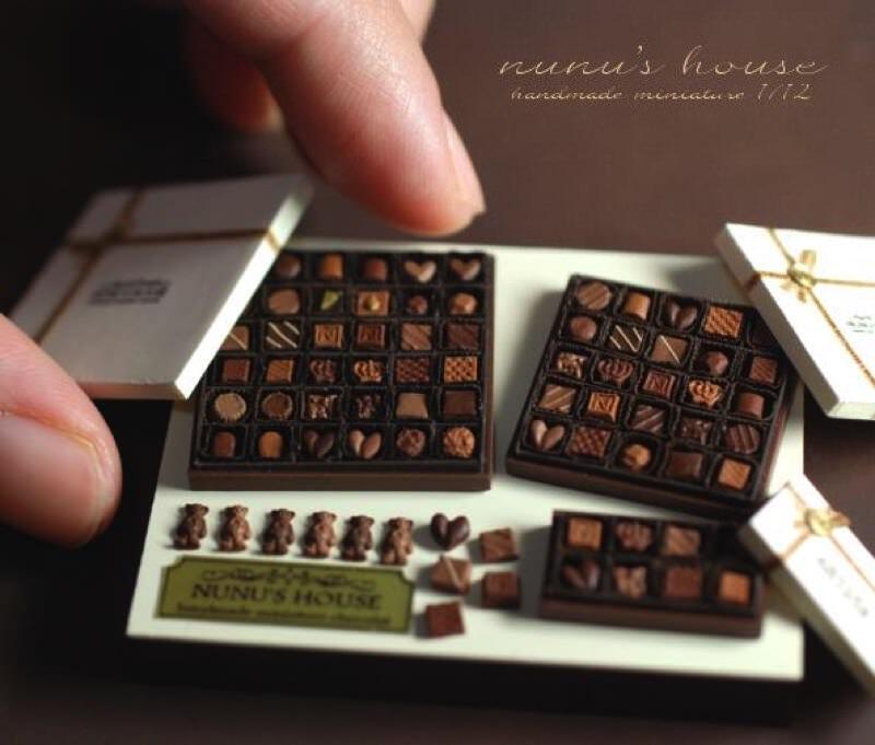 田中智さんのミニチュアアート作品 チョコレートセット