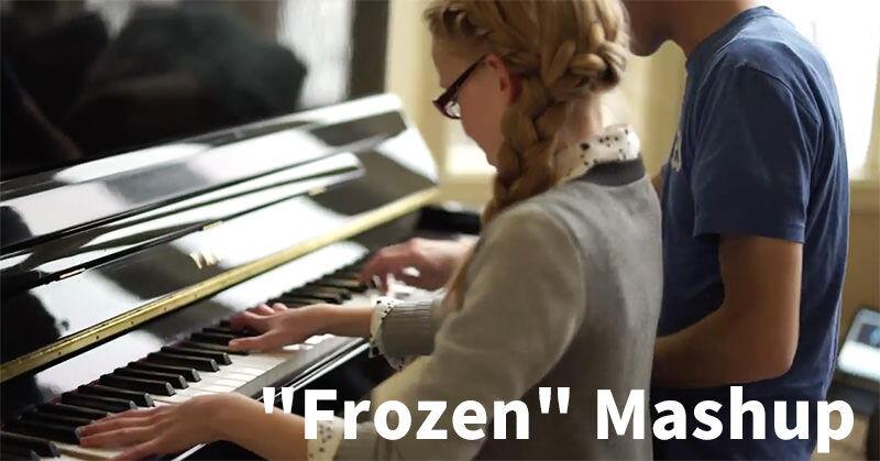 兄妹ピアノストによる「アナと雪の女王」マッシュアップがすっごい楽しそう!