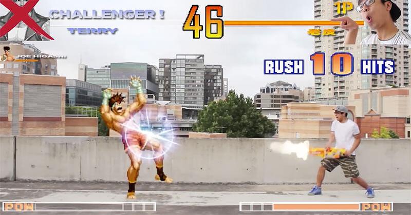 リアルの世界でKOFのキャラクターと戦うVFX使いがすごい!