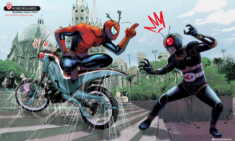 spiderman_vs_kamen_ride_black_by_kikomauriz-d7zrr59