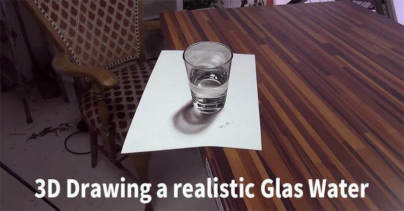 すげー!立体的コップのリアルイラストが作られていく様子!
