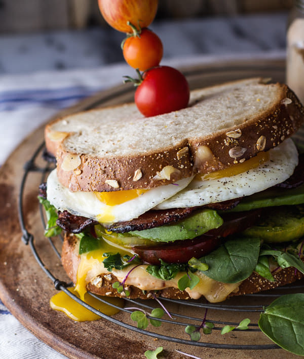 Bourbon-Caramelized-Bacon-and-Heirloom-Tomato-BLT-wFried-Eggs-Smoked-Gouda.