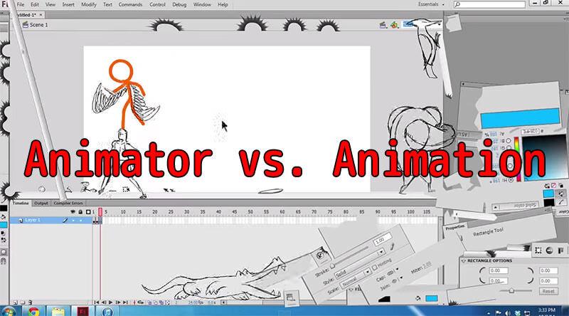 アニメキャラが暴れ、アニメーターのパソコンが破壊されまくるAlan Beckerのスゴイムービー!