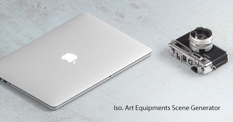 ものすごく高品位なアイテムを設置できるモックアップ素材