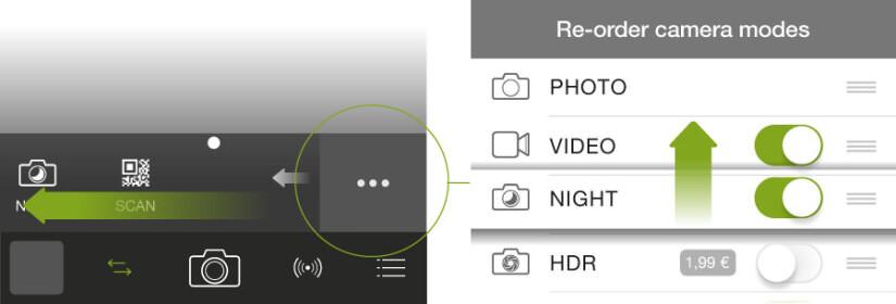 ProCamera(プロカメラ)のカメラボタンは入れ替えれる
