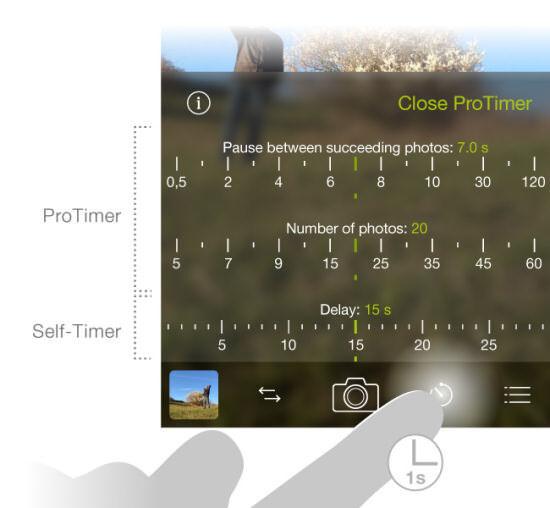 ProCamera(プロカメラ)バージョン6.2で追加された機能「ProTimer」