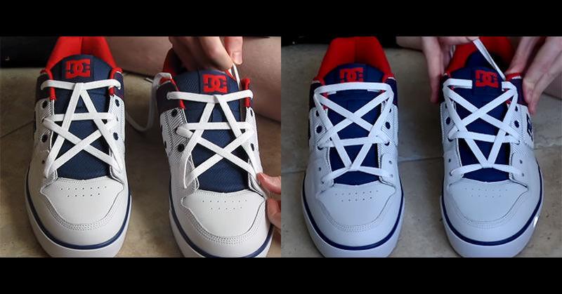 靴ひもを「星の形」にセットしちゃえば気分が良いな