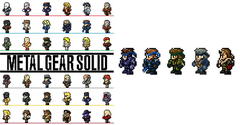ドット絵になったMGSのキャラクター達がカワイイ!