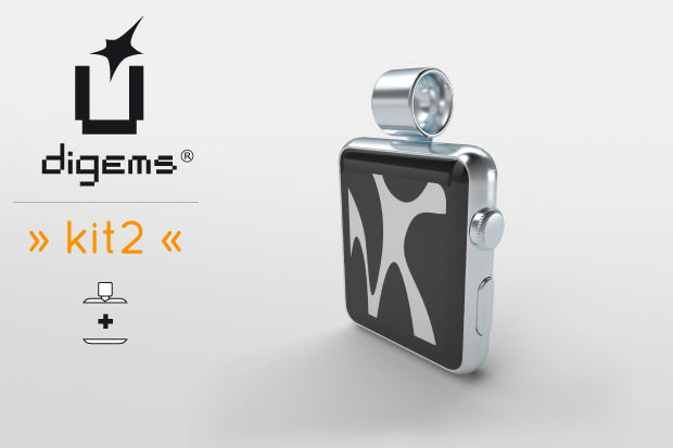Apple Watchを懐中時計やチャーム化するグッズ「digems kit2」