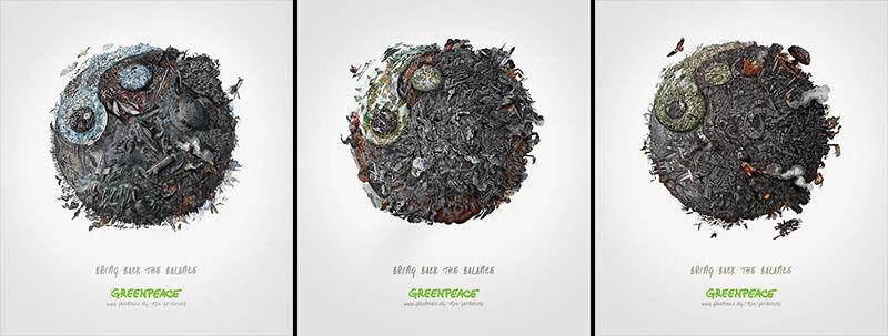 環境汚染を3つの「陰陽」で表現したMcCann Worldgroupの水彩画