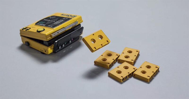 たくさんのカセットが動くストップモーション「Quack Fat」