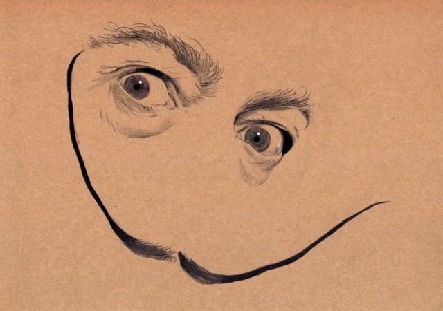 アーティスト佐野田 翔太さんによる有名人の絵を描いた「Eyes」