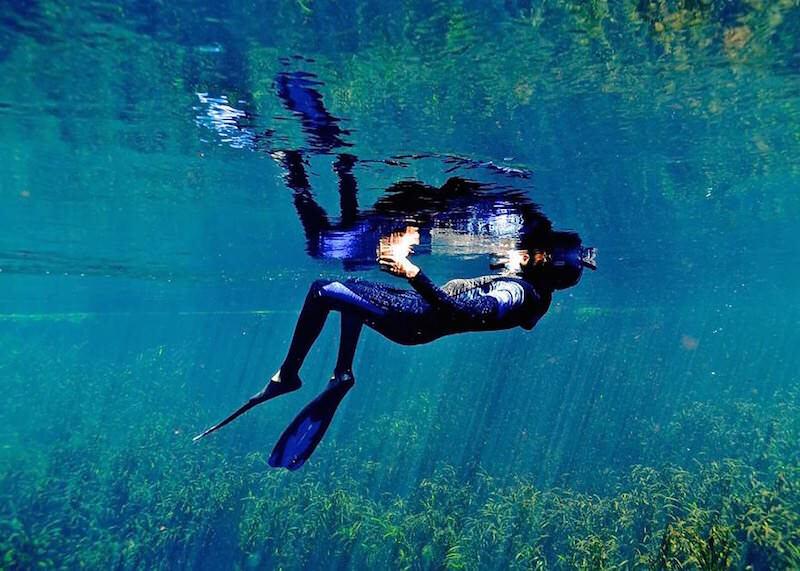 まるで人魚が見ている世界を写した水中写真