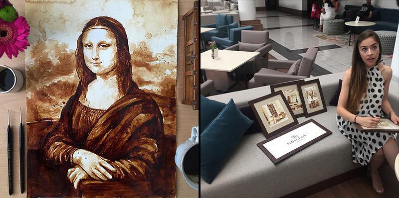 コーヒー香るMaria A. Aristidouのイラストアート