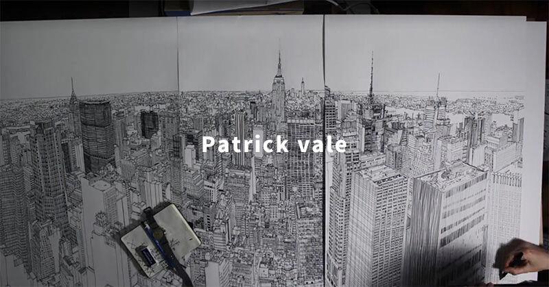 ニューヨークの街を描いたPatrick valeの作品