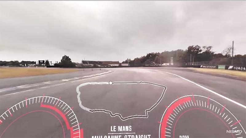 360度映像技術を使って日産GT-Rを堪能できる映像
