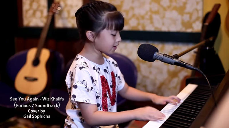 See You Againをピアノカバーする9歳少女Gail Sophichaちゃんの演奏