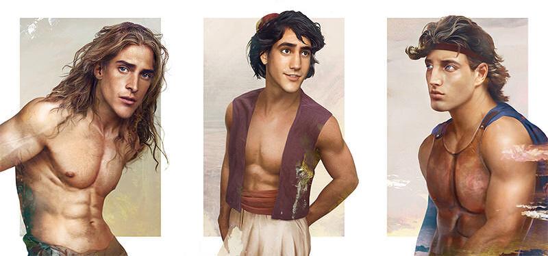 ディズニーのキャラクターがリアルの世界にいたら美男美女ぞろいだった