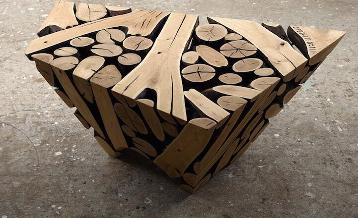 自然で幾何学的な彫刻のアート作品 JaeHyo Lee