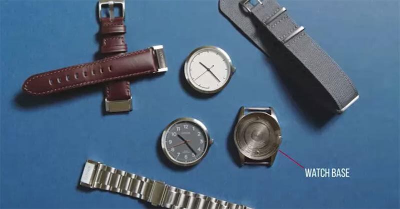 いくつかのパーツに分かれカスタマイズ可能な腕時計