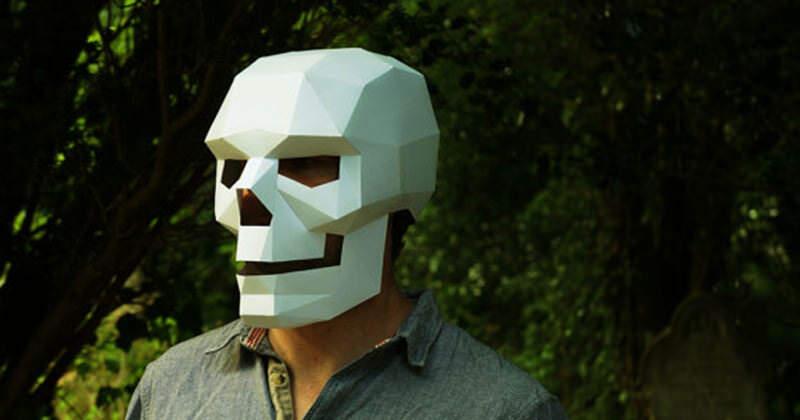 3Dなペーパークラフトお面Wintercroftがイイ!