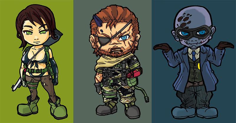 SDキャラクターで描かれたMGSV:TPPのキャラクターが可愛い!