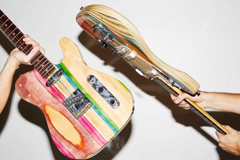 スケートボードと音楽好きな人が作ったギター