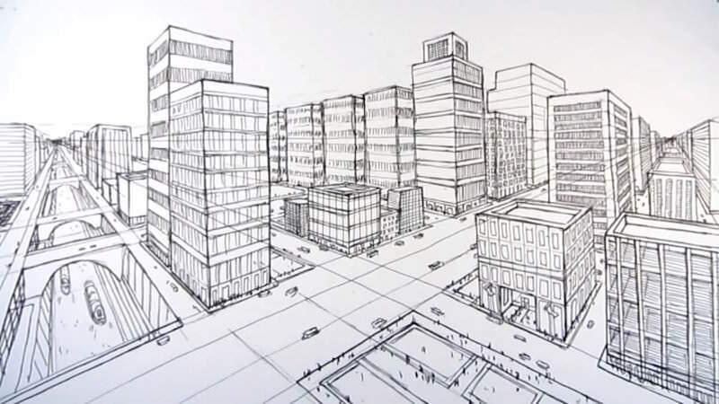 消失点を理解しつつ大都市を手軽に描く方法