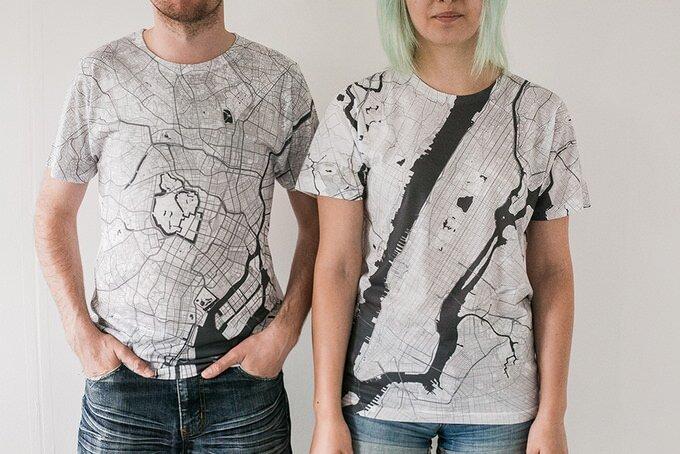 地図好きにはたまらないシャツCitee Fashion