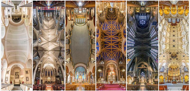 教会内で撮影されたパノラマ写真が美しすぎる
