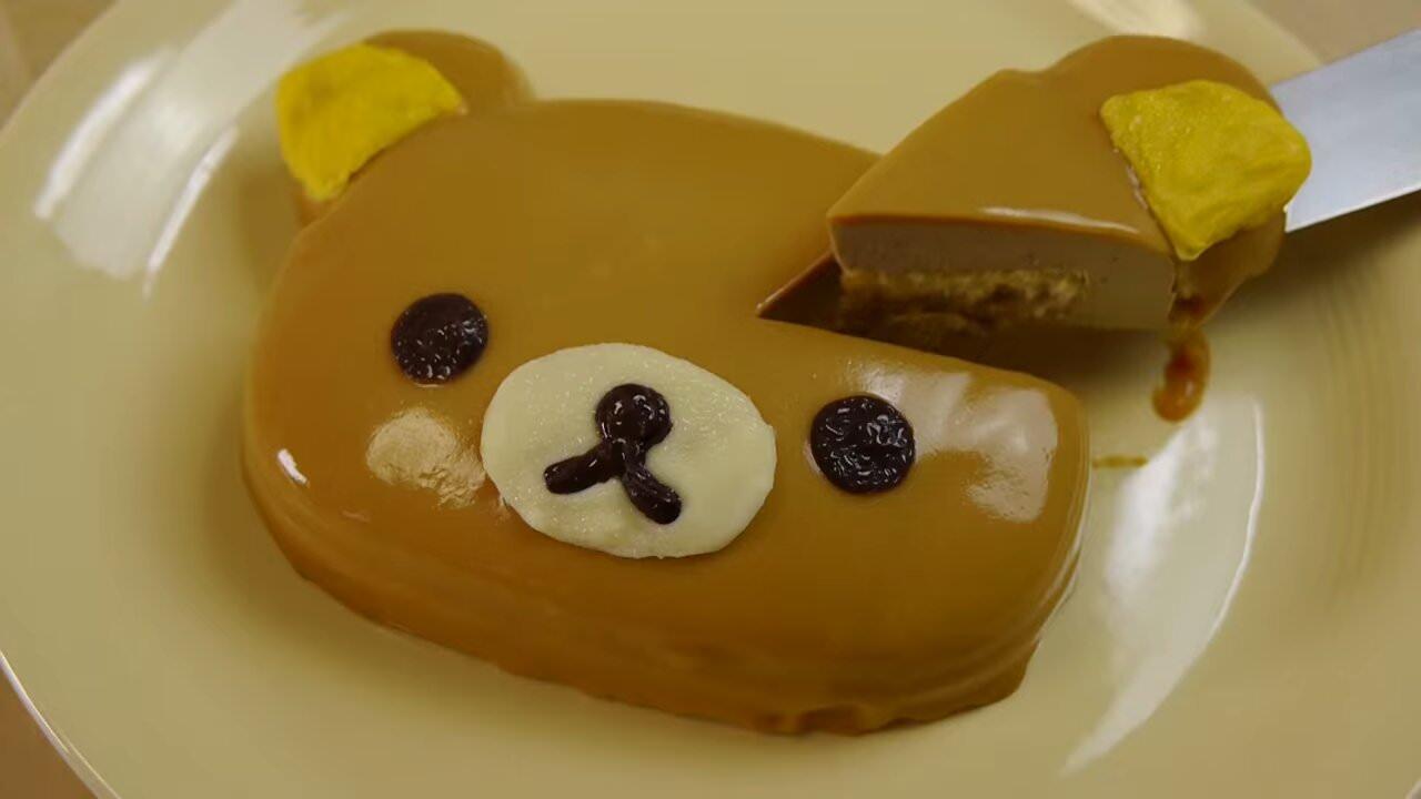 人気YouTuberが作る「リラックマひんやりケーキ」が可愛くて美味そう!