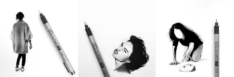 細かく描くモノクロが美しいJackdevilartのアート