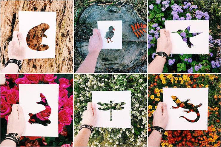自然と動物の切り絵を融合させた素敵な写真アート:Nikolai Tolsty