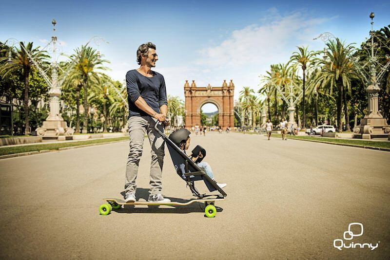 ベビーカーとスケートボードを一緒に合わせた製品:Longboardstrolleris