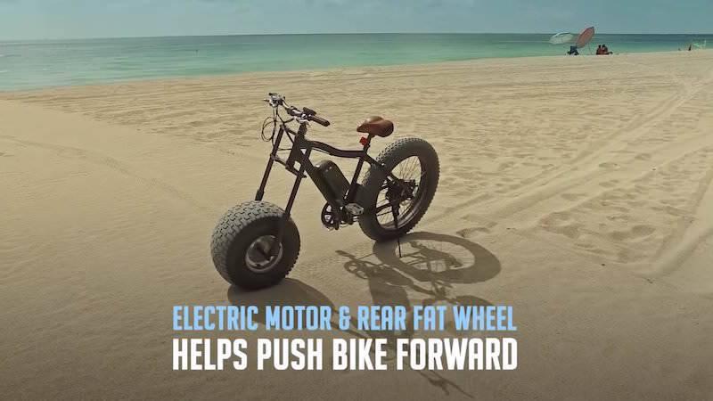 浜辺も走れちゃう太いタイヤを所持した自転車