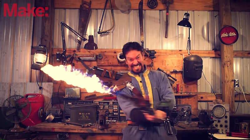 燃えとるwゲーム「Fallout 4」出てくる炎の剣を作っちゃった人!