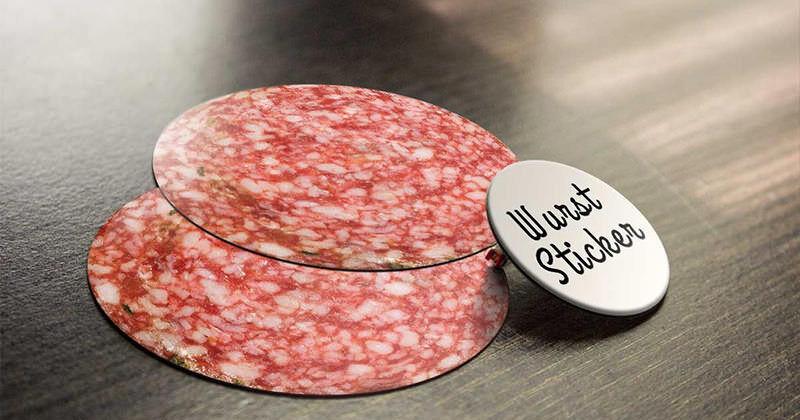 肉好きなのがバレてしまう、お肉なステッカー