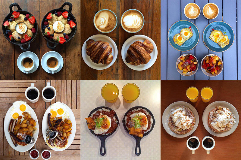 シンメトリーな朝食で毎朝を過ごす二人