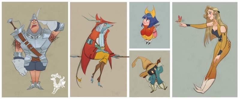 ディズニー風に描かれたファイナルファンタジーのキャラクター達:David Adhinarya Lojaya